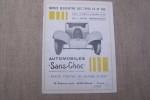 """AUTOMOBILES """"Sans Choc"""" BREVETS LAMBERT """"Petite voiture de grande classe"""" 28 Boulevard Jamin, Reims. Notice descriptive des types TA et TAS 6-30 CV et ..."""