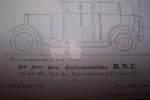La plus grande petite Voiture: B.N.C. 8/10 CV. Sté Ame des Automobiles B.N.C. à Levallois..