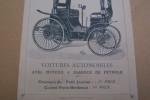 Les Fils de PEUGEOT Frères, constructeurs à MANDEURE par VALENTIGNEY (Doubs): Voitures automobiles avec moteur à essence de pétrole. Description ...