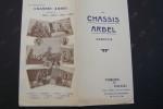 Les chassis ARBEL emboutis.(1906. Voitures de course. Poids lourds. Voitures de ville et de tourisme. Forges de Douai, Pierre Arbel, ...