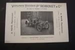 Voiturette Tandem Fd ROBINET,(1906) A. ROYE Représentant, 29 Rue Le Peletier, à Paris. Usine à Nantes..