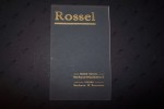 Société Anonyme des Automobiles ROSSEL à Sochaux-Montbéliard. Catalogue 1911..