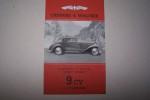 """CHENARD & WALCKER(Genevilliers): Cabriolet 2 places modèle """"Cabourg"""" 9 CV 4 cylindres. Cabriolet 4 places, conduite intérieure 4 places.."""