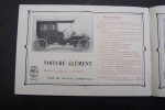 Cycles et Automobiles CLEMENT 1906 (Usines au Pré-Saint-Gervais et à Tulle). Autocyclettes 1, 2 et 3 chevaux. Voiture modèles 10, 12, 14, 30 chevaux.. ...