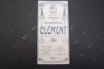 Cycles & Automobiles Clément 1906. Usines au Pré-Saint-Gervais et à Tulle. Autocyclettes 1 et 2 HP. Caractéristiques des Chassis 10, 12, 14, 15, 18, ...