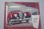 DELAHAYE DELAGE Les voitures de classe et de qualité. Types 135 M, 135 M5 (Coach ou cabriolet), 148 L, 175 (Coach ou cabriolet), 178, 180..