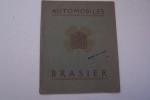 Société des automobiles BRASIER, Siège Social & Usine principale à IVRY-PORT. Catalogue au 1er Janvier 1912..