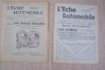 L'Echo automobile. Mensuel technique, littéraire, commercial..
