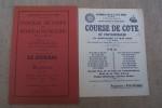 Règlement COURSE de COTE de FONTAINEBLEAU organisée par l'Automobile-Club de l'Ile-de-France sur la Montée de La Béhoudière,  Dimanche 14 Mai 1933..