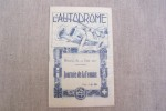 CHAMPIONNAT FEMININ DE L'AUTOMOBILE Concours d'Elegance Automobile, Autodrome de Montlhéry, Journée de la Femme, 12 Juin 1927. Règlement, liste des ...