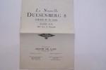 La nouvelle DUESENBERG 8 L'Avion de la route 33/265 CV  190km. à l'heure.. ANDRE H.