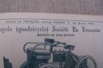 Cycles & Motocycles Société La Française: Tricycle et Quadricycle à moteur DE DION-BOUTON..