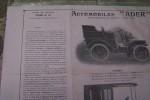 """Automobiles """"ADER"""" Société Industrielle des Téléphones. Chassis 8, 12 et 16 chevaux.."""