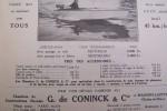 """Pour les courses: le """"KOSKI-MOTO-GLISSEUR"""". Chantiers de Constructions Navales G. de CONINCK & Cie à Maisons-Laffitte.."""