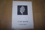 Louis Bonte 1908-1971. Plaquette souvenir: sa carrière par J. Lecarme. Allocutions de l'Ingénieur Général J. Soissons, du Colonel Paul Badre, du ...