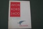 Avion NORD 3400 Catalogue de présentation..