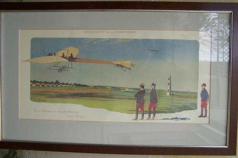 Aérodrome de la Champagne: Marcel HANRIOT sur monoplan Hanriot.. GAMY (Marguerite MONTAUT)