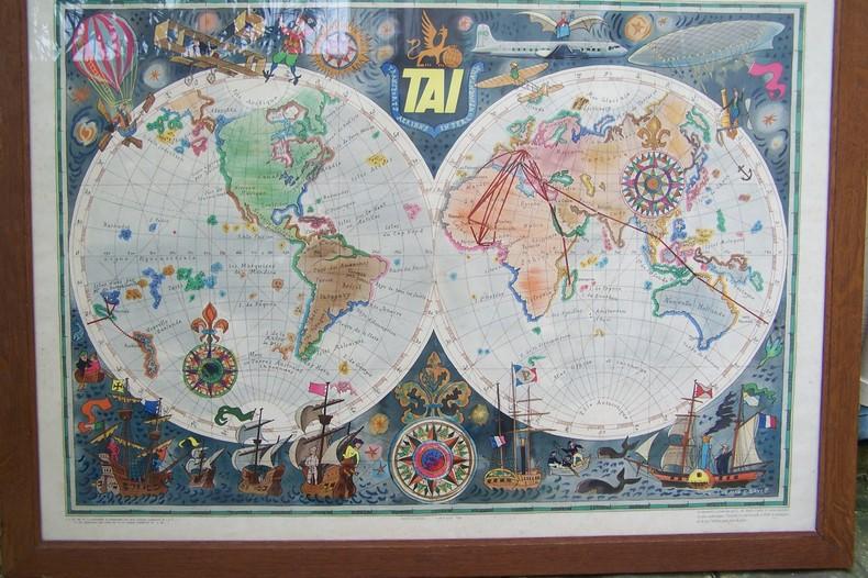 Affiche: TAI Transports Aériens Intercontinentaux.. BAYLE Luc Marie