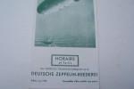 Horaires et tarifs des Services Transtlantiques de la DEUTSCHE ZEPPELIN-REEDEREI Edition Juin 1936..