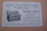"""Accordéons Italiens de la célèbre marque """"PANCOTTI"""". Manufacture Française d'Instruments de Musique PAJOT Jeune, à Jenzat (Allier). Catalogue 1934.."""