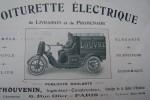 Voiturette électrique de livraison et de promenade F. THOUVENIN, 6 rue Olier à Paris..