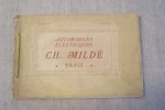 Automobiles électriques Ch.Mildé & Cie (constructeur-électrician) Rue Desrenaudes (Avenue Niel), Paris. Ateliers: Rue Deguingand, Levallois. ...