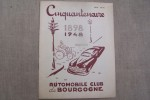 CINQUANTENAIRE DE L'AUTOMOBILE-CLUB DE BOURGOGNE 1898-1948..