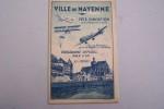 PROGRAMME MEETING: Ville de Mayenne Fête d'aviation 8 Septembre 1935. Pilotes: Roger Samoyau, Fernand Malinvaud, Maryse Bastié, Suzanne Picat, Louis ...