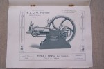 """J. & O.G. PIERSON Ingénieurs-Constructeurs: Moteurs à Gaz """"Crossley"""", Janvier 1902. Moteurs à pétrole, à essence & à alcool """"Crossley"""", 1902. Le ..."""