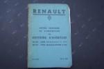 Notice technique et d'entretien des moteurs d'aviation RENAULT (Billancourt) 140 CV Type BENGALI 4 Pei et 100 CV Type BENGALI-JUNIOR 4 Pgi. N.E. 382 ...