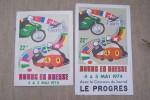 Programme officiel du 22eme CIRCUIT INTERNATIONAL DE VITESSE Bourg-en-Bresse, 4 et 5 Mai 1974. .