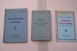 AERODYNAMIQUE, CALCUL ET CONSTRUCTION DES AVIONS: REBUFFET P, Soufflerie aérodymamique, 1932. BREGUET Louis, Stabilitié longitudinale des avions, ...