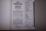 CADILLAC Service manual 1977..