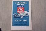 """Programme du 3e GRAND PRIX DE PARIS et épreuves annexes: Coupe d'argent de l'A.G.A.C.I., Cirduite de Paris Automobile """"500"""", Prix de Paris ..."""