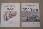 AEROCENTRE: Atterrisseurs. Compresseurs: NC.C71, NC.C.72, NC.C.73, NC.C.85..