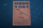 GLIDING A Yearbook  published by Dorset gliding club dealing with every aspect of motorless flight. 1931. Edited by H.R.R. GOODYEAR..