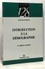 Intriduction à la démographie (2e édition refondue). Rollet Catherine