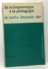 De la linguistique à la pédagogie  le verbe français. Csécsy Madeleine
