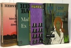 Madame Ex + Les bienheureux de la désolation + Chapeau bas + Qui j'ose aimer --- 4 livres. Bazin Hervé