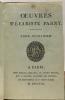 Oeuvres complètes du Chevalier de Parny - tome second  troisième et quatrième --- 3 volumes. Évariste Parny (Chevalier)
