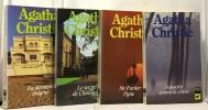 Le mystérieux Mr Quinn + Le miroir du mort + le miroir se brisa + Poirot joue le jeu--- 4 romans. Agatha Christie
