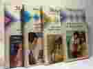Le Piège du dépit + L'espoire d'un regard + une petite île au grand soleil + Deux coeurs pour un royaume --- 4 livres de la collection Harlequin. ...