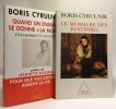 """Le Murmure des fantômes + Quand un enfant se donne """"la mort"""" attachements et sociétés  préface de Jeannette Bougrab. Cyrulnik Boris"""