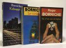Vol d'un nid de bijoux + Le Coréen + Kidnapping --- 3 livres. Roger Borniche Kenny Paul
