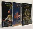 L'Affaire Toutankhamon + La Reine Soleil + Pour l'amour de Philae --- 3 livres. Jacq Christian
