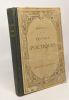 Oeuvres poétiques - précédées d'une notcie biographique et littéraire et accompagnées de notes par F. Brunetière. Boileau