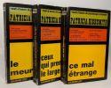 """Ce mal étrange + Ceux qui prennent le large + Le meurtrier --- 3 livres de la collection """"Chefs d'oeuvre de psychologie criminelle""""."""