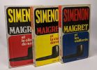 3 livres Maigret: Maigret et le client du samedi + Maigret et les vieillards + Maigret et la vieille dame. Simenon