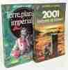 Terre  planète impériale + 2001 l'odyssée de l'espace (d'après un scénario original de Stanley Kubrick et Arthur C. Clarke) --- 2 livres. Clarke ...
