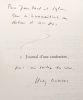 Journal d'une confession + Journal d'une conversion --- 2 livres --- avec hommage de l'auteur. Bonnier Henry